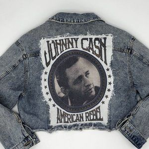 Johnny Cash Custom Design Blue Jean Denim Jacket